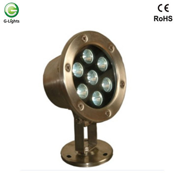 IP68 waterproof 7w 12v underwater led lights for fountains and pool