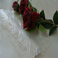 white flower wrapping sizo web mesh netting roll