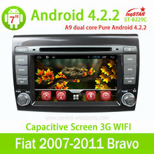Android 4.2 car dvd for fiat bravo 2007-2011 with gps navigation system review camera 1080p HD video car stereo audio