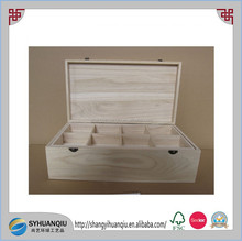 Cheap Small Unfinished Wooden Boxes Wholesale For Crafts wooden compartments box for sale