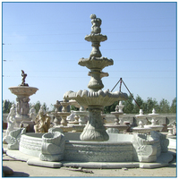 outdoor green marble garden water fountain for decoration