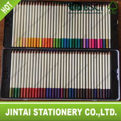 BSCI certificated colour pencil with color top 72 colours pencil packing in tin box