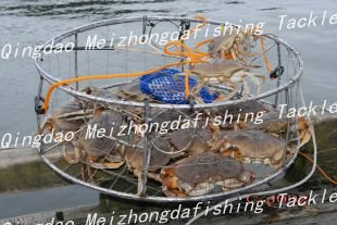 sell well Canada commercial round stainless steel wire crab trap