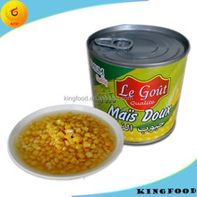 NON GMO canned sweet corn all types of canned corn