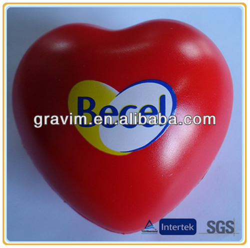 Sticker logo red Heart stress ball