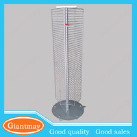 3 sides rotary metal rotating spinner display stand