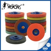 4 inch Non-Woven Polishing Wheel in abrasive tools Used on Cooper and wood