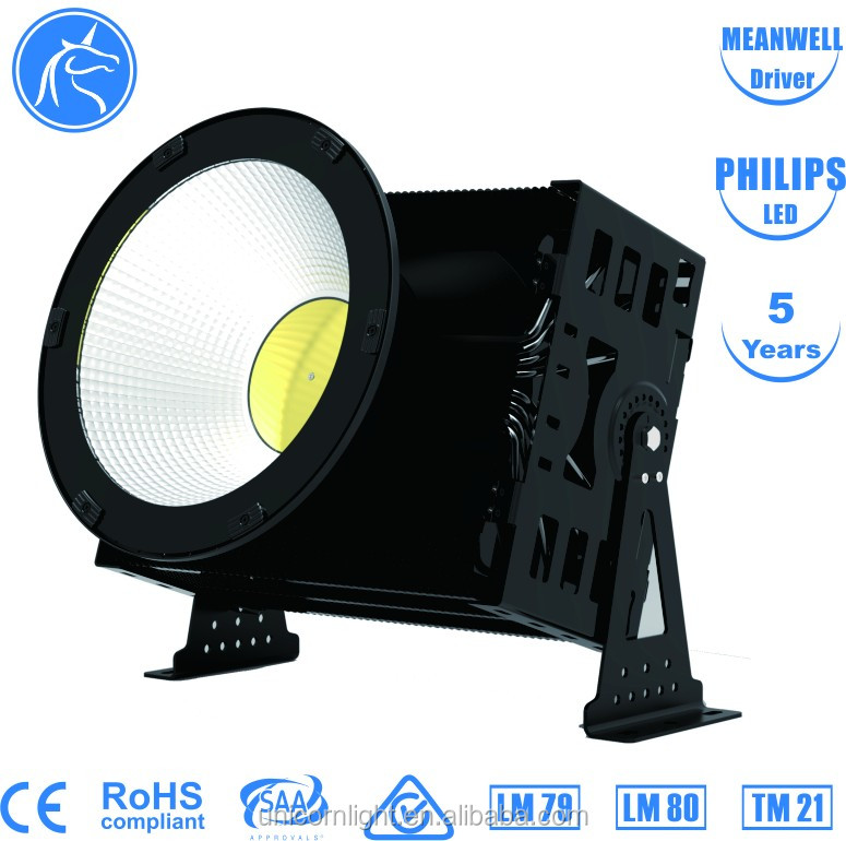 high power 800W/1000W/1500W Meanwell driver led high bay, led stadium highbay light