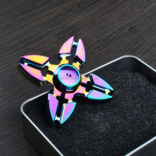 2017 Factory OEM Colorful Series Zinc Alloy Material Fidget Spinner Stress Relief Hand Spinner/Finger Spinner for Adult/Children