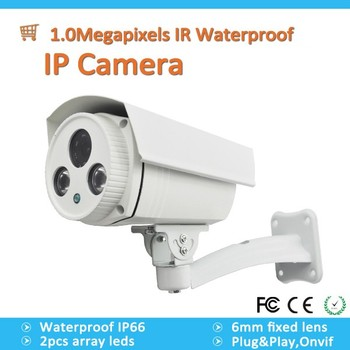 Cheap 1MP 720P HD P2P ONVIF CMOS 50M IR Waterproof IP Camera