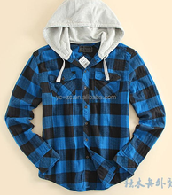 Latest mens hooded sweatshirts cheap cap hooded flannel shirt
