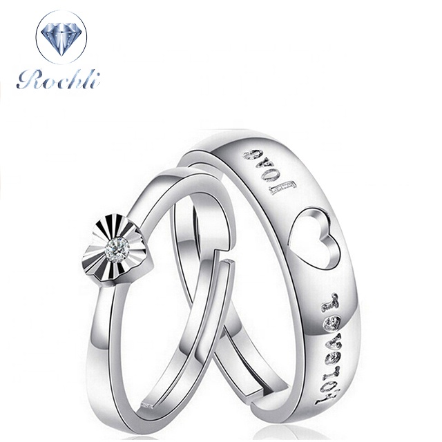 Wholesale Fashion Jewelry Women Ladies Silver Crystal Wedding Couple <strong>Rings</strong> Wedding <strong>Ring</strong>