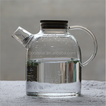 New Product borosilicate glass,Eco-Friendly Feature and Water Pots & Kettles Drinkware Type tea pot