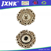 Custom zinc alloy buttons for two parts