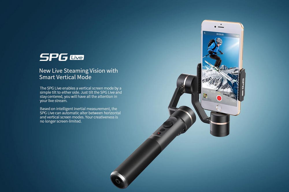 SPG Live 3 Axis Gimbal For Smartphone