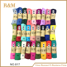 China factory wholesale cheap solid color multicolor cotton women polyester scarf