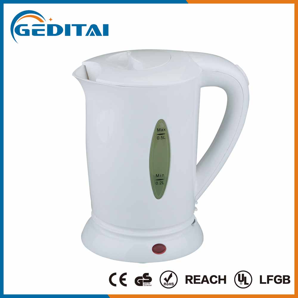 2016 most popular home use small capacity plastic kettle 500ml electric travel kettle