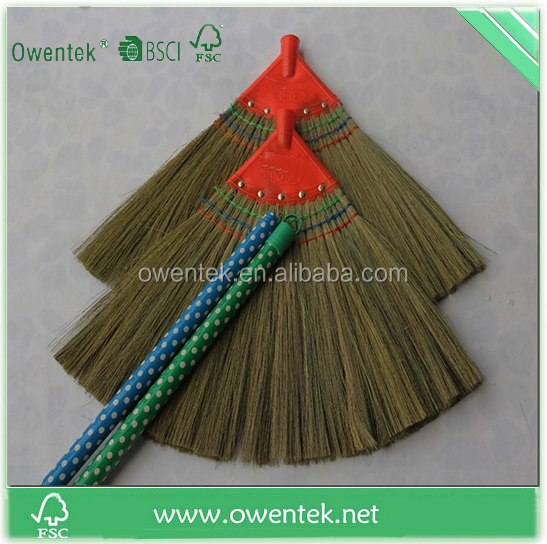Plastic indoor sweeping floor soft broom head without pole