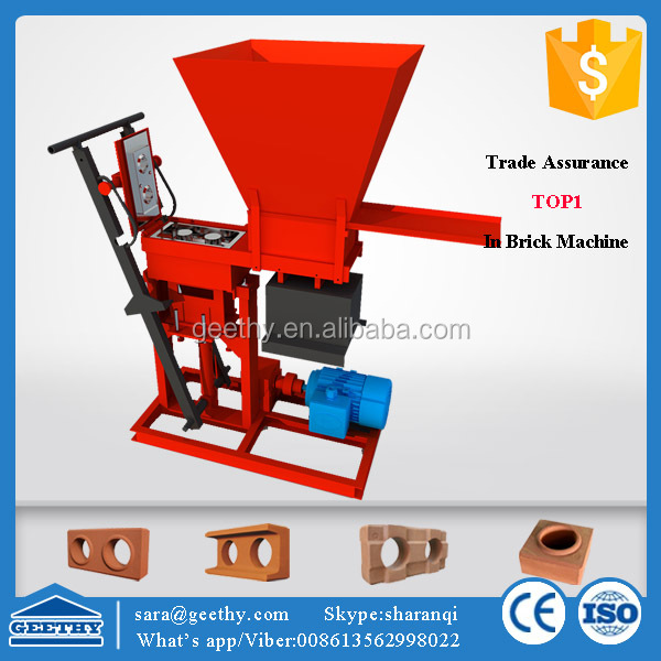 Eco brava hand operated earth brick making machine price/ ecological brick machine soil cement