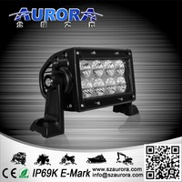 Aurora Hot Sell 4'' 24W dual row led off road light bar head light led off road