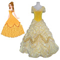 Beauty and the Beast Princess Belle Dress Women Halloween Carnival Party Cosplay Dress