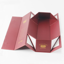 OEM cheap price good quality magnetic flat folding gift box custom folding wine paper box