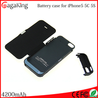 Wholesale travel use Backup charging case for iphone 5 Mah battery case