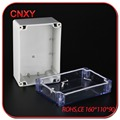 ABS plastic electrical junction box for PCB with transparent cover