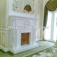 Marble Sculpture Fireplace Mantel