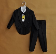 Fashion Baby Boy Suit for Christening Black White Color Boy's Dress Suit