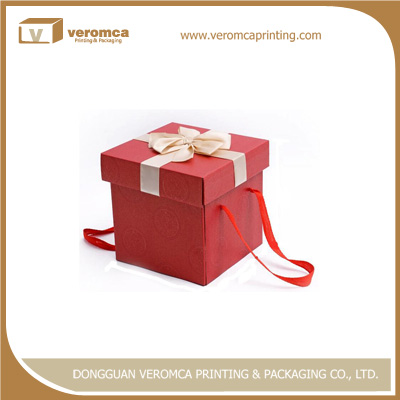 China Supplier printed folding wine glass packaging boxes see through gift box
