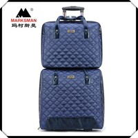 Hight quality fashion design embroidery luggage bag and laptop case