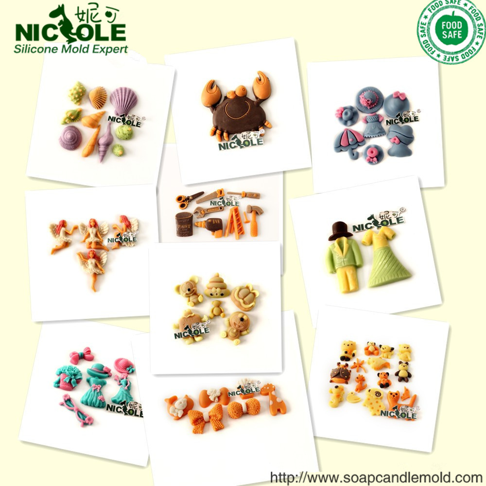 Cake Decorating Work Environment : Silicone Rubber Nicole Small Hard Candy Fondant Cake Molds ...