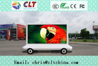 Full color P10 outdoor CLT advertising outdoor led display P10,mobile advertising van