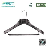 Betterall Ink Flat Hook Wooden Coat Hanger