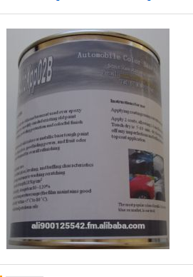 High Quality Auto Colorful Silicone-Acrylics Solid-Metallic Basecoats