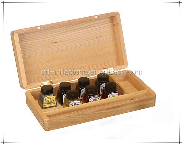 Hot Selling Natural Pine Solid Customized Made-In-China Eco-Friendly Wooden Olive Oil Box