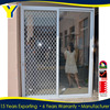 YY construction windows and doors aluminium sliding door sliding glass door with security mesh