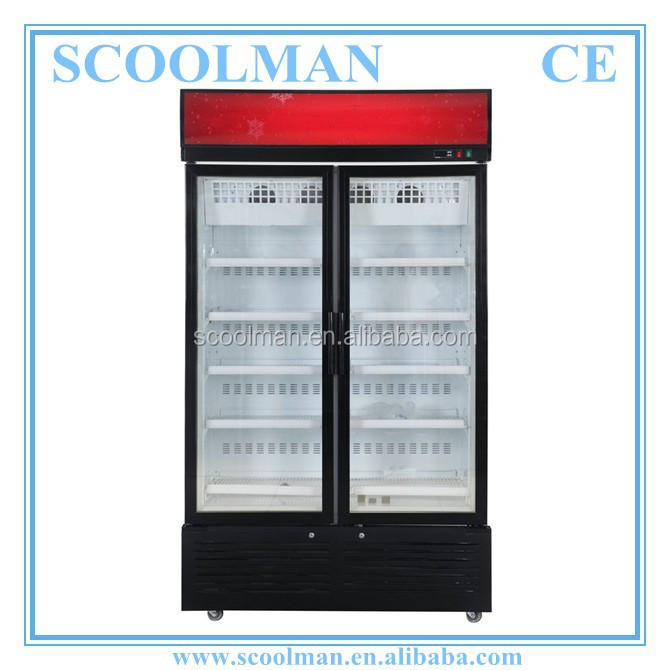 Commercial Use Upright Ice cream Display Freezer