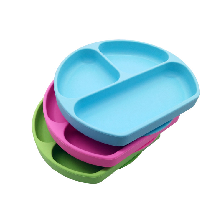 Amazon Best Seller Silicone Plates for Baby,Dishwasher Safe Suction Silicone Placemat Divider