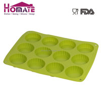 Silicone 12-cup silicone mould/Muffin cup silicone cake mould tartlet mould