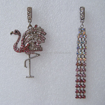 Crystal Stones Beaded Red-crowned Earrings(Z02229c)