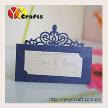 Hot sale laser cut wedding seat place card for birthday wedding party table decoration