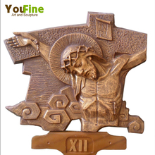 Metal Crafts Religious Relief Bronze Stations of the Cross