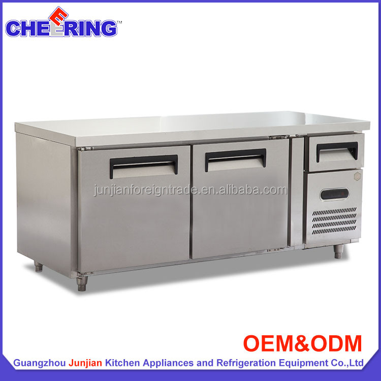 Stainless steel commercial industrial fridge freezer with CE approval for hotel in china (TG1.5L2)