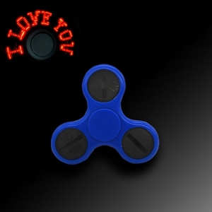 Newest Glowing Fidget I LOVE YOU LED Spinner Toy Tri-Spinner Stress Reducer Anti-Anxiety Toy with Words Flash LED Light