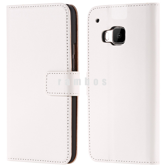 11 Colors High Quality Genuine Leather Design Magnetic Holster Flip Leather Mobile Phone Bag Pouch for HTC ONE M9