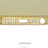 china supplier gold rear back case with diamond for iphone 5s back hosuing