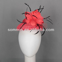 Fashion Ladies' sinamay fascinator with feathers