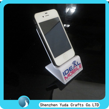 Manufacturer custom logo store counter white acrylic mobile phone display stand
